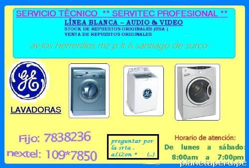 Fotos de servicio t cnico lavadoras general electric - Servicio tecnico de general electric ...