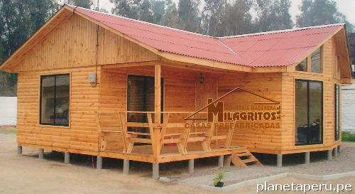 Fotos de casas prefabricadas de madera lima puente puente - Habitaciones de madera prefabricadas ...