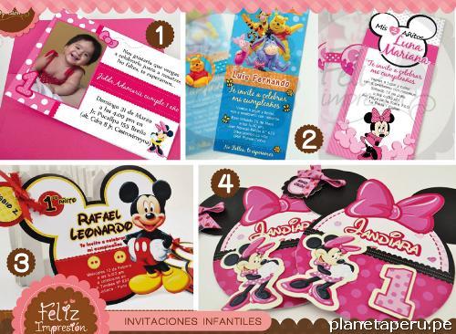 Invitaciónes Infantiles Con Foto Personalizadas Imagui
