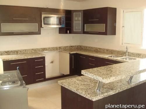 Muebles de cocina con tablero de granito m rmol cuarzo en for Modelos de marmol para cocina