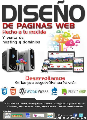 hostingwebbuzz:. venta de hosting y dominio y diseño de páginas