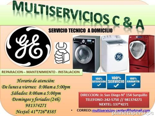 Fotos de servicio t cnico secadoras general electric lima - Servicio tecnico de general electric ...