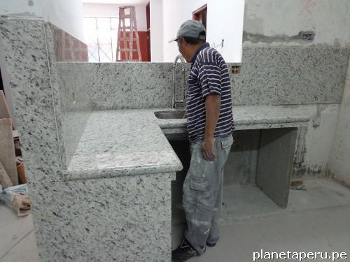 Fotos de m rmol y granito en lima per encimeras topes for Cuanto cuesta el granito para cocina
