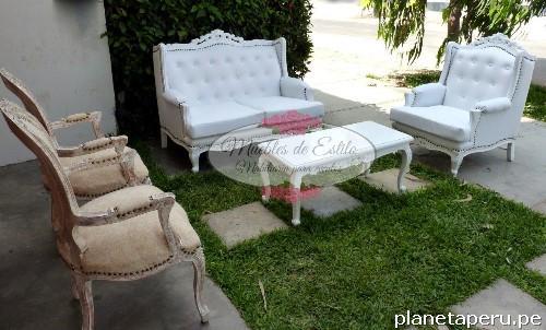 Fotos de alquiler salas luis xv salas de estilo salas - Muebles tipo vintage ...