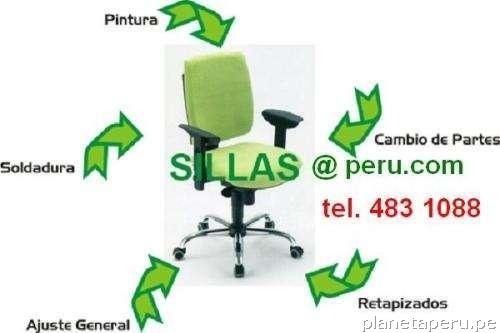Reparaci n de sillas de oficina lima per en lima capital for Sillas de oficina lima