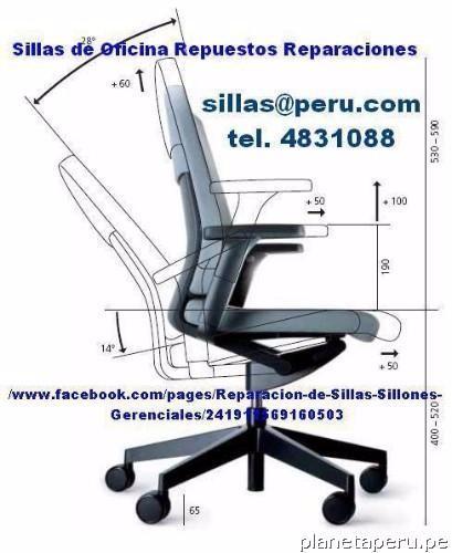 Reparaci n de silla de oficina lima per en lima capital for Sillas de oficina peru