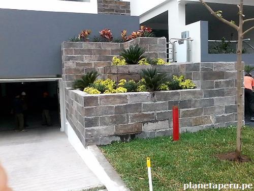 Piedra talamoye pisos pared jardineras tapa con visto - Piedras para jardineras ...